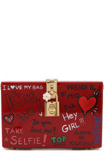 Сумка Dolce Box из дерева Dolce & Gabbana