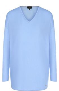 Однотонный кашемировый пуловер с V-образным вырезом Escada