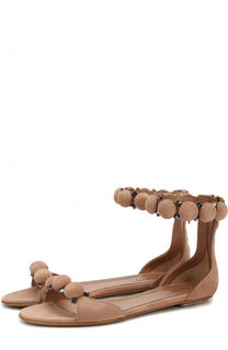 Замшевые сандалии с декором на шпильке Alaia