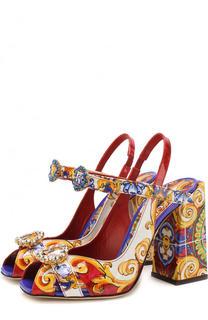 Босоножки Bette Quadra с принтом на устойчивом каблуке Dolce & Gabbana