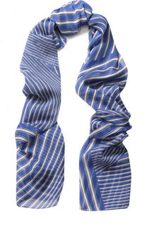 Шелковый шарф в полоску Escada