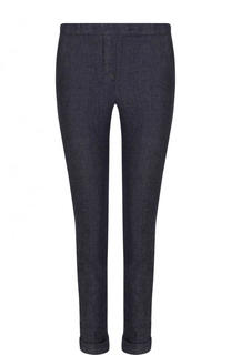 Укороченные джинсы-скинни с отворотами Loro Piana
