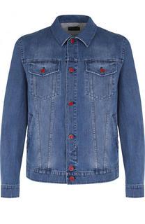 Джинсовая куртка с декоративными потертостями Kiton