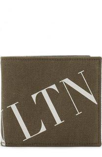 Хлопковое портмоне с отделениями для кредитных карт Valentino