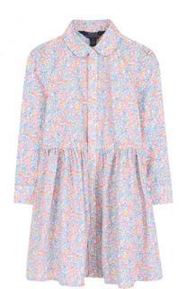 Хлопковое платье с принтом Polo Ralph Lauren