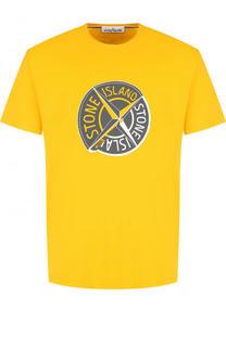 Хлопковая футболка с круглым вырезом Stone Island