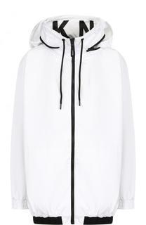 Ветровка с контрастной отделкой и капюшоном DKNY