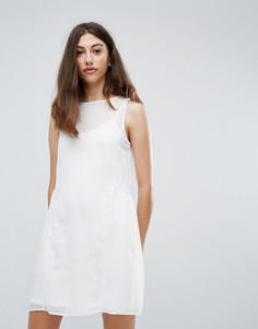 Сетчатое платье Pieces Eila - Белый