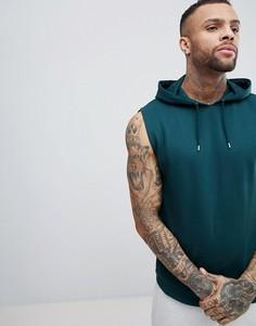 Худи зеленого цвета без рукавов ASOS DESIGN - Зеленый