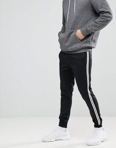 Спортивные штаны с полосками Blend Sports - Черный