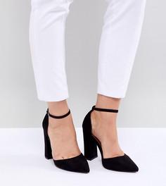 Туфли для широкой стопы на высоком каблуке с острым носом ASOS DESIGN - Черный