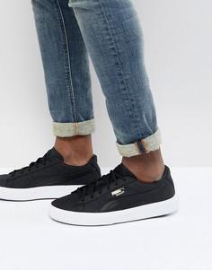 Черные замшевые кроссовки Puma Breaker 36607701 - Черный