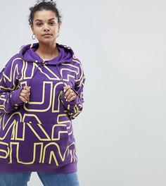 Худи фиолетового цвета с логотипом Puma эксклюзивно для ASOS Plus - Фиолетовый