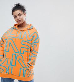Худи оранжевого цвета с логотипом Puma эксклюзивно для ASOS Plus - Оранжевый