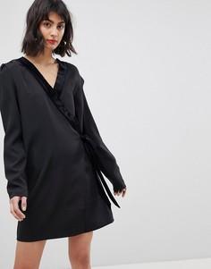 Платье-смокинг с запахом Vero Moda - Черный
