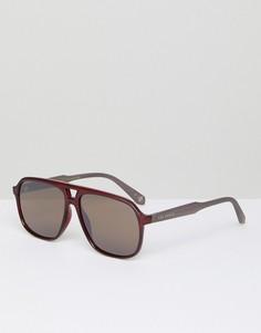 Бордовые солнцезащитные очки-авиаторы Ted Baker TB1504 200 Ervin - Красный