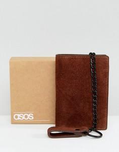 Коричневый замшевый бумажник с цепочкой ASOS - Коричневый