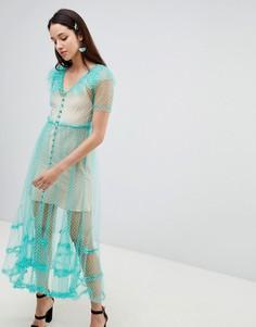 Сетчатое платье-трапеция To Be Adored Dilone - Зеленый