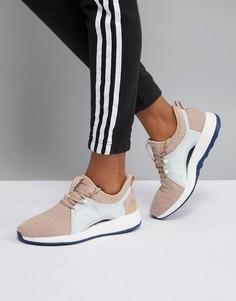 Женские кроссовки кремового цвета adidas PureBOOST X - Бежевый