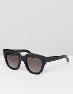 Черные солнцезащитные очки кошачий глаз Monokel Eyewear Cleo - Черный