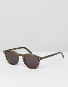Солнцезащитные очки в круглой зеленой оправе Monokel Eyewear Nelson - Зеленый