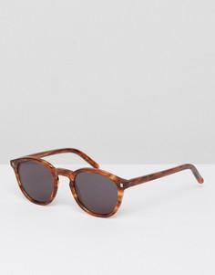 Солнцезащитные очки в круглой оправе янтарного цвета Monokel - Коричневый
