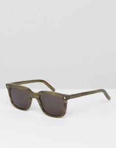 Квадратные солнцезащитные очки в зеленой оправе Monokel Eyewear Robotnik - Зеленый