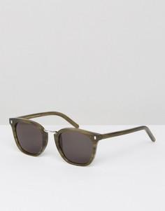 Солнцезащитные очки в зеленой квадратной оправе Monokel - Зеленый