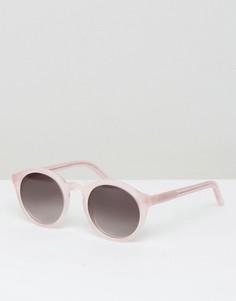 Круглые солнцезащитные очки розового цвета Monokel Eyewear Barstow - Розовый