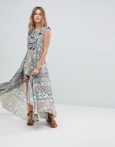 Асимметричное пляжное платье с оборкой Island Stories - Мульти