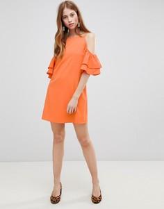 Платье с вырезами на плечах Glamorous - Оранжевый