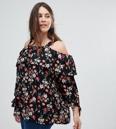 Топ с открытыми плечами и цветочным принтом Koko - Мульти