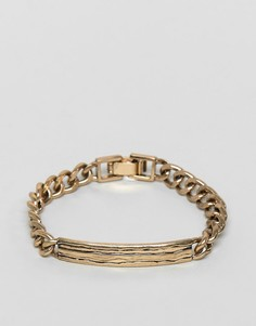 Золотистый браслет-цепочка Icon Brand Premium - Золотой