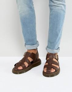 Светло-коричневые сандалии Dr.Martens Galia Carpathian - Рыжий