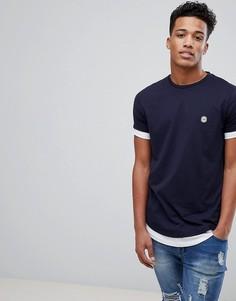 Двухслойная футболка Le Breve - Темно-синий