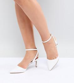 Туфли на каблуке с острым носком ASOS DESIGN - Белый