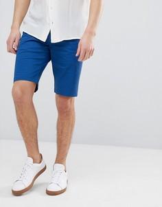 Синие шорты чиносы узкого кроя HUGO - Синий