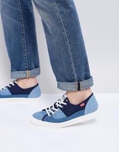 Джинсовые кеды на шнуровке Levis Malibu - Синий