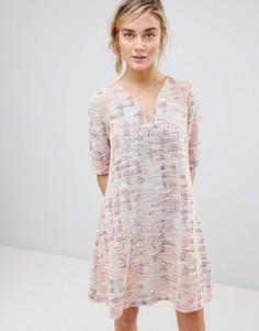 Гобеленовое платье See U Soon - Розовый