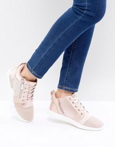 Женские декорированные атласные кроссовки ALDO - Розовый