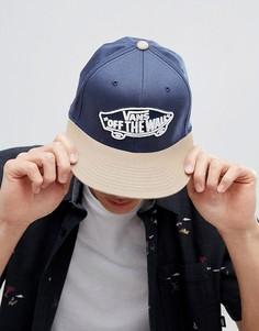 Синяя кепка Vans Home Team Flexfit - Синий
