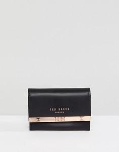 Кожаный кошелек Ted Baker Consortina - Серый