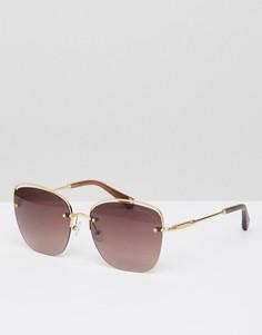 Золотистые солнцезащитные очки кошачий глаз Christian La Croix - Золотой