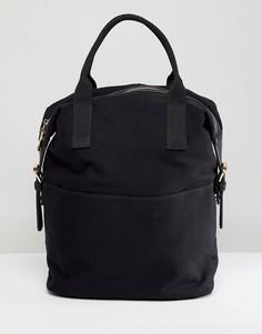 Парусиновый рюкзак на молнии с двойной ручкой ASOS DESIGN - Черный
