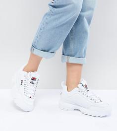 Белые кроссовки Fila Premium Disruptor - Белый