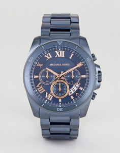 Часы с хронографом Michael Kors MK8610 Brecken 44 мм - Синий