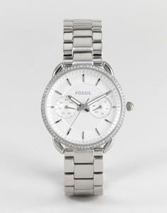 Серебристые часы-браслет 35 мм Fossil ES4262 Tailor - Серебряный