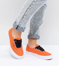 Кроссовки с яркими шнурками Vans Design Assembly Authentic - Оранжевый