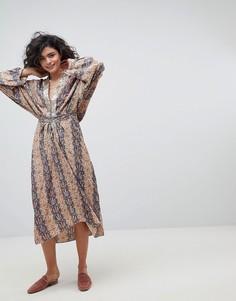 Платье миди с принтом Intropia - Мульти