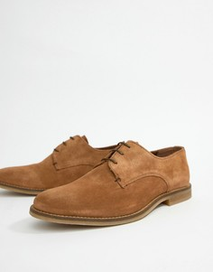 Светло-коричневые замшевые туфли на шнуровке River Island - Рыжий